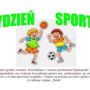 Tydzień sportu