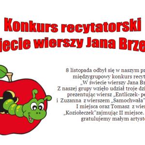 Konkurs recytatorski W świecie wierszy Jana Brzechwy