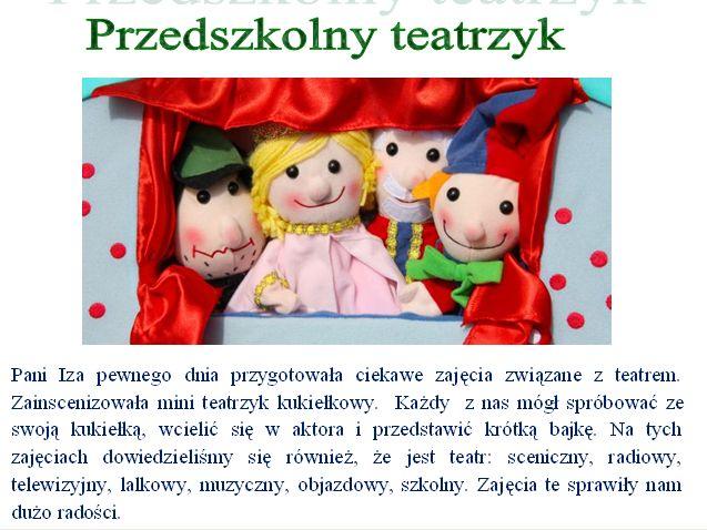Przedszkolny teatrzyk