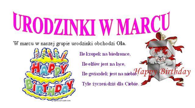 Urodzinki w marcu