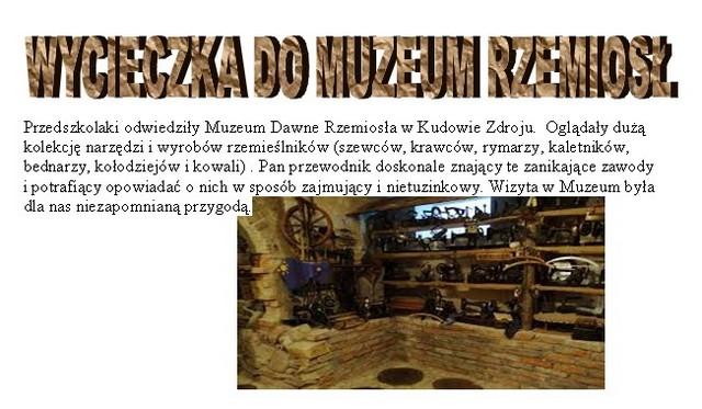 Wycieczka do Muzeum Rzemiosł