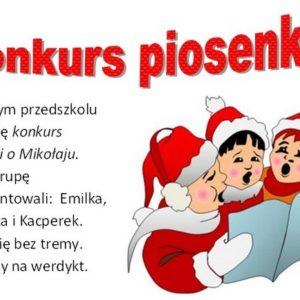 Konkurs piosenki o Mikołaju