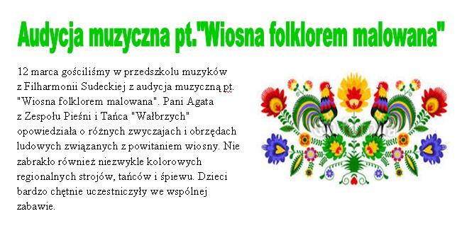 Wiosna folklorem malowana