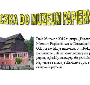 Wycieczka do Papierni
