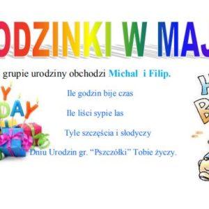 Urodziny w maju