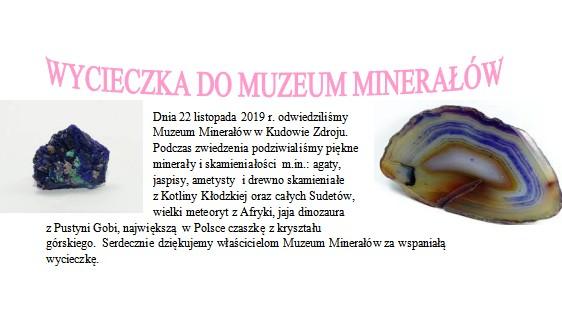Wycieczka do Muzeum Minerałów