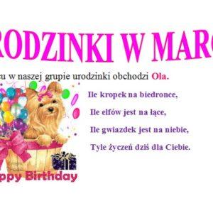 Urodziny w marcu