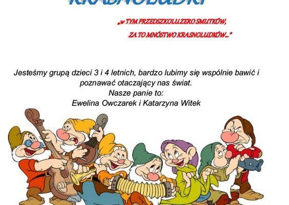 Grupa Krasnoludki, rok szkolny 2020/2021