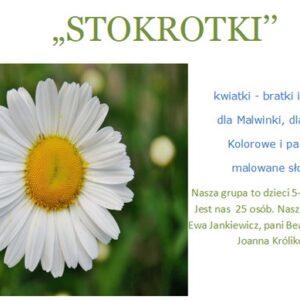 Grupa Stokrotki, rok szkolny 2020/2021