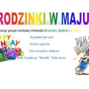 Urodzinki w maju